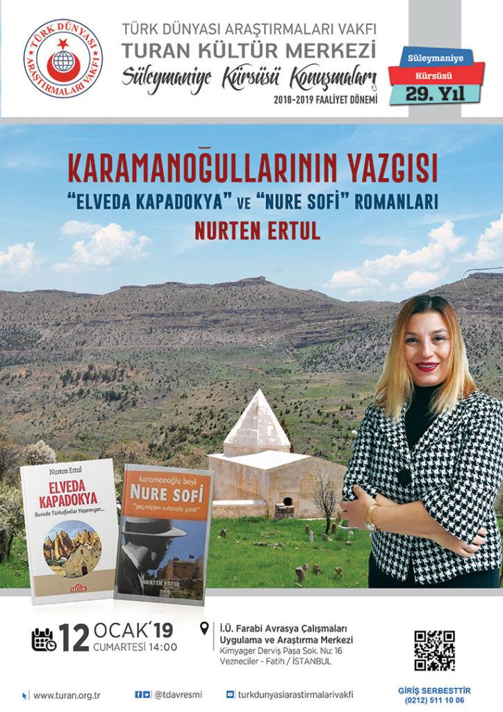 Karamanoğullarının Yazgısı 'Elveda Kapadokya' ve 'Nure Sofi' Romanları