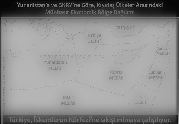 GKRY'nin Türkiye Cumhuriyeti'ne ve Kuzey Kıbrıs Türk Cumhuriyeti'ne ait deniz yetki alanlarında hidrokarbon arama çalışmaları ve münhasır ekonomik bölge anlaşmaları