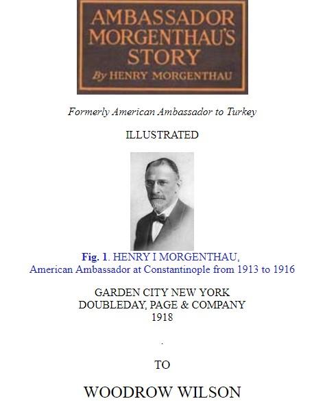 Büyükelçi Morgenthau'nun Hatıraları