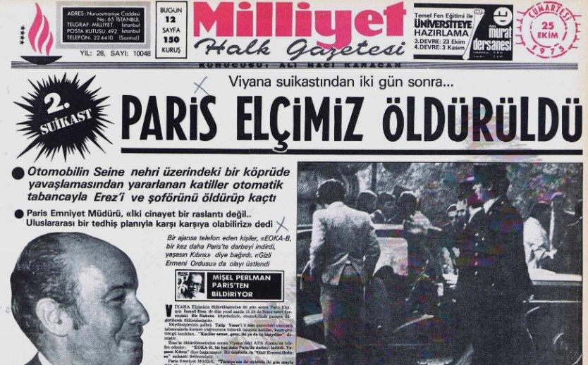 Paris Büyükelçimiz İsmail Erez'in şehadet haberi