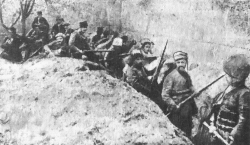 Van'ı işgal eden Ermeni çetelerin kurdukları savunma hattı