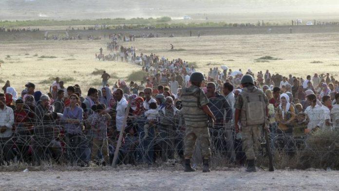 Suriye sınırımızda göçmenler