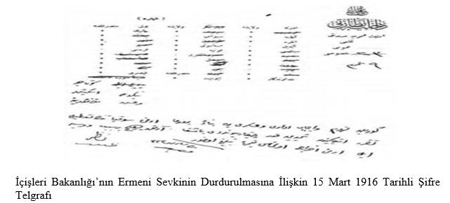 Dahiliye Nezareti şifre kalemi, şifre No:62/21(EK-30)