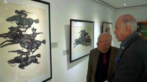Kazak ressamların eserleri ziyarete açıldı, Abbas Ketizmen'e 'Cengiz Aytmatov'u Okumak' ödülü