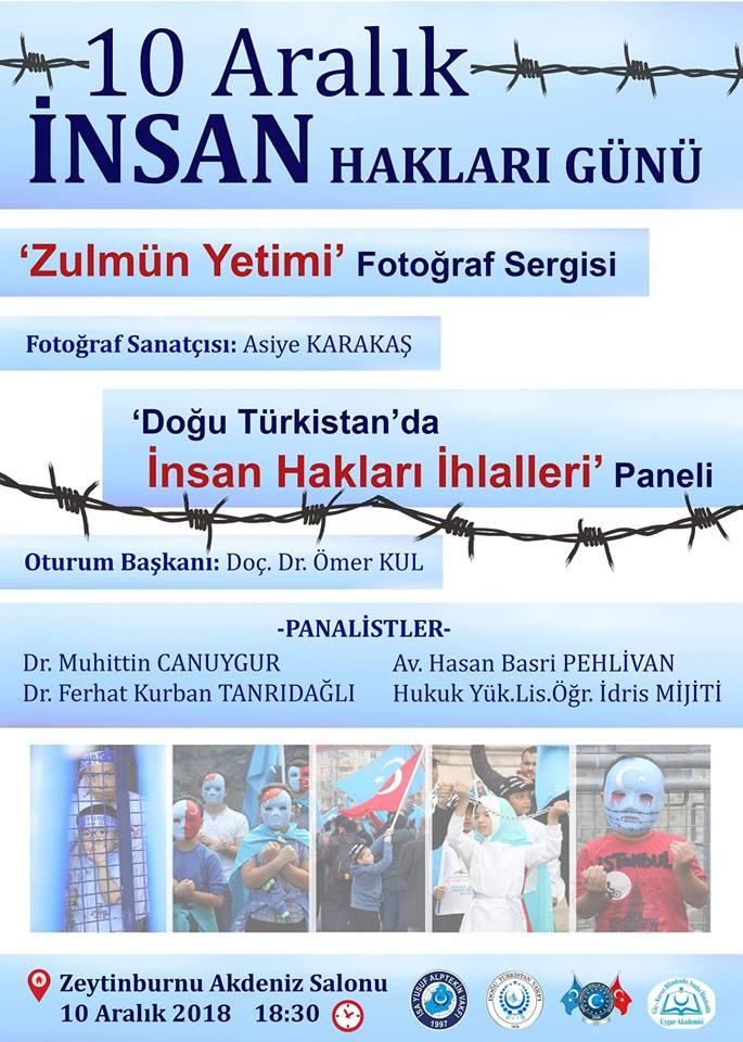 Asiye Karakaş-Zulmün Yetimi Fotoğraf Sergisi ve Doğu Türkistan'da İnsan Hakları İhlalleri Paneli