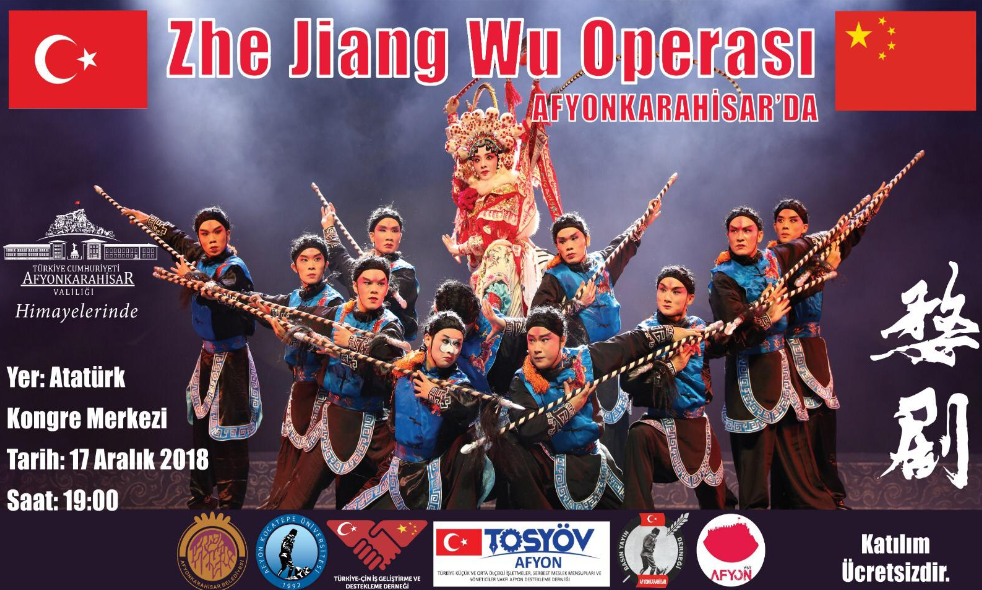 Doğu Türkistan Çin elinden kan ağlarken, Afyon'da Çin operası
