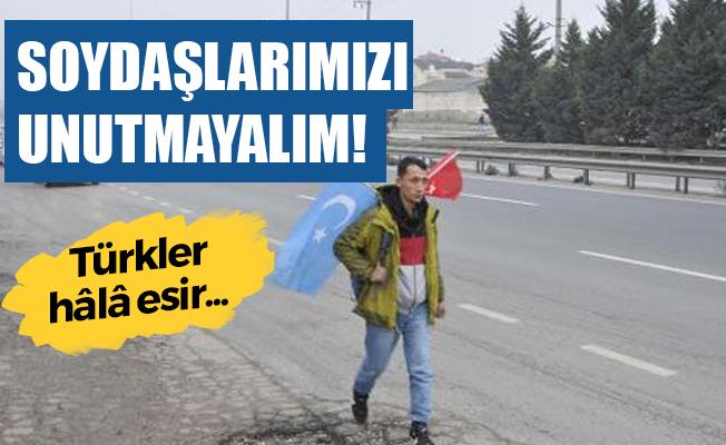 Doğu Türkistan için İstanbul'dan Ankara'ya yürüyor