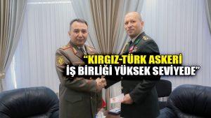 Kırgızistan Genelkurmay Başkanı'ndan Türk askeri ataşeye madalya
