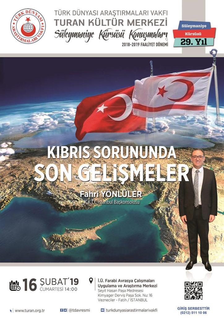 """""""Kıbrıs Sorununda Son Gelişmeler"""" konulu konferans"""