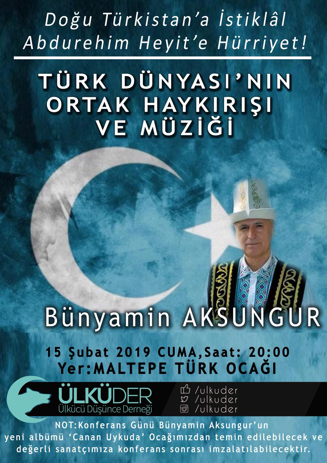 """""""Türk Dünyası'nın Ortak Haykırışı"""" konulu konferans"""
