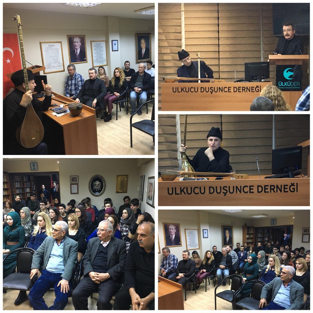 """""""Türk Dünyası'nın Ortak Haykırışı ve Müziği"""" konulu konferans yapılmıştır."""