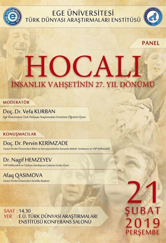 """""""Hocalı, İnsanlık Vahşetinin 27. Yıl Dönümü"""" konulu panel"""