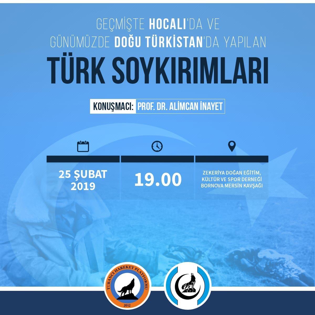 """""""Geçmişte Hocalı'da ve Günümüzde Doğu Türkistan'da Yapılan Türk Soykırımları"""" konulu koferans"""