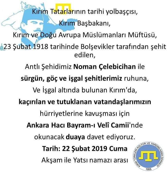 Noman Çelebicihan-Kırım Tatarlarının yolbaşçısı