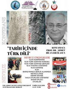 'Tarih İçinde Türk Dili' Konferansı ve Türk'ün Bayramı Nevruz Kutlamaları