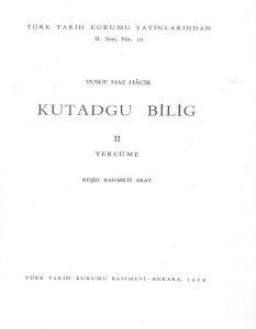 Kutadgu Bilig'de Türk ve Türkçe
