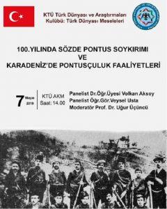 100. Yılında Sözde Pontus Soykırımı ve Karadeniz'de Pontusçuluk Faaliyetleri