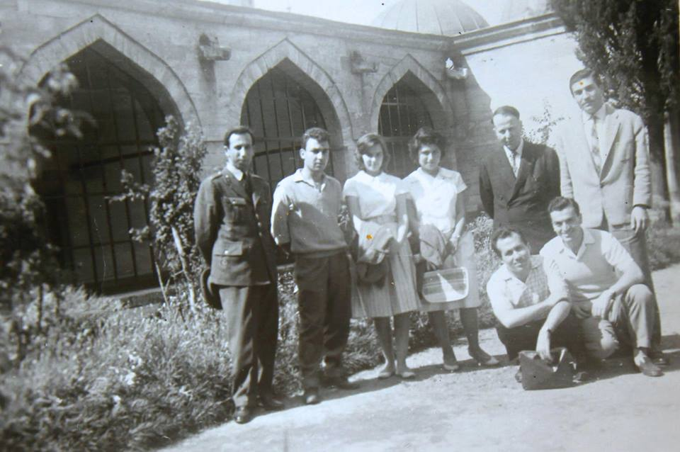 (1961) Atsız'ın Yamtarı Mustafa Kafalı ve eşi Sevgi Kafalı, Nihal Atsız ile.