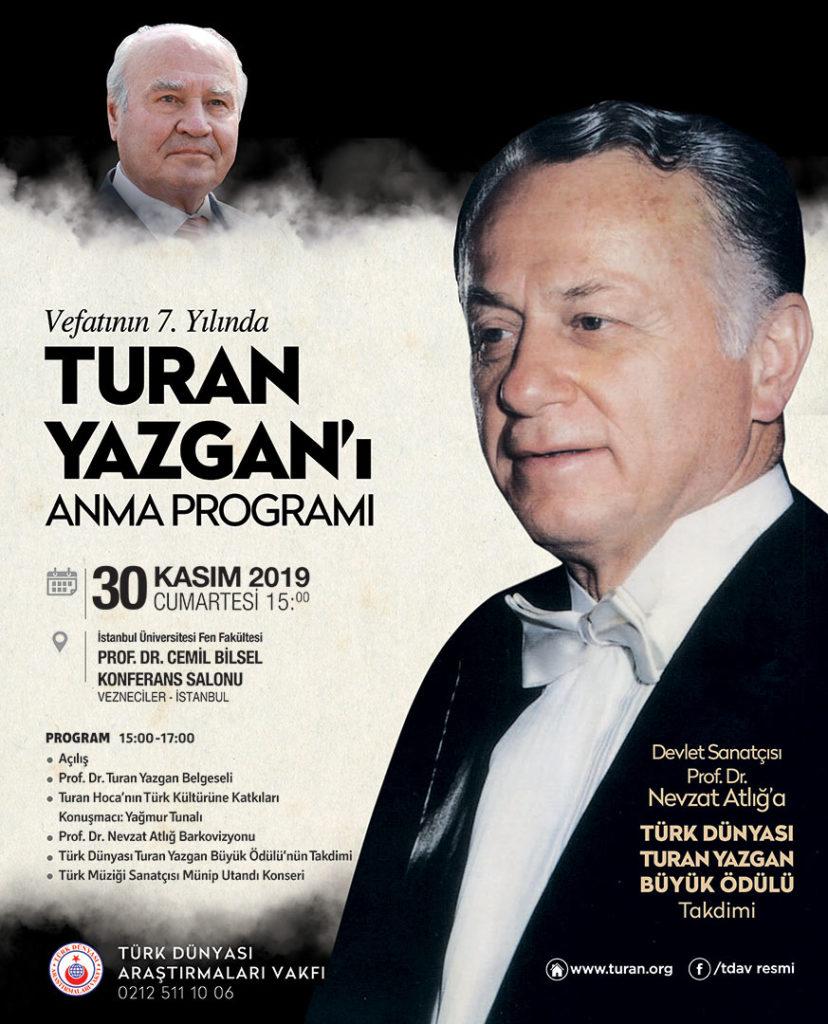 Vefatının 7. Yılında Prof. Dr. Turan Yazgan Anılıyor