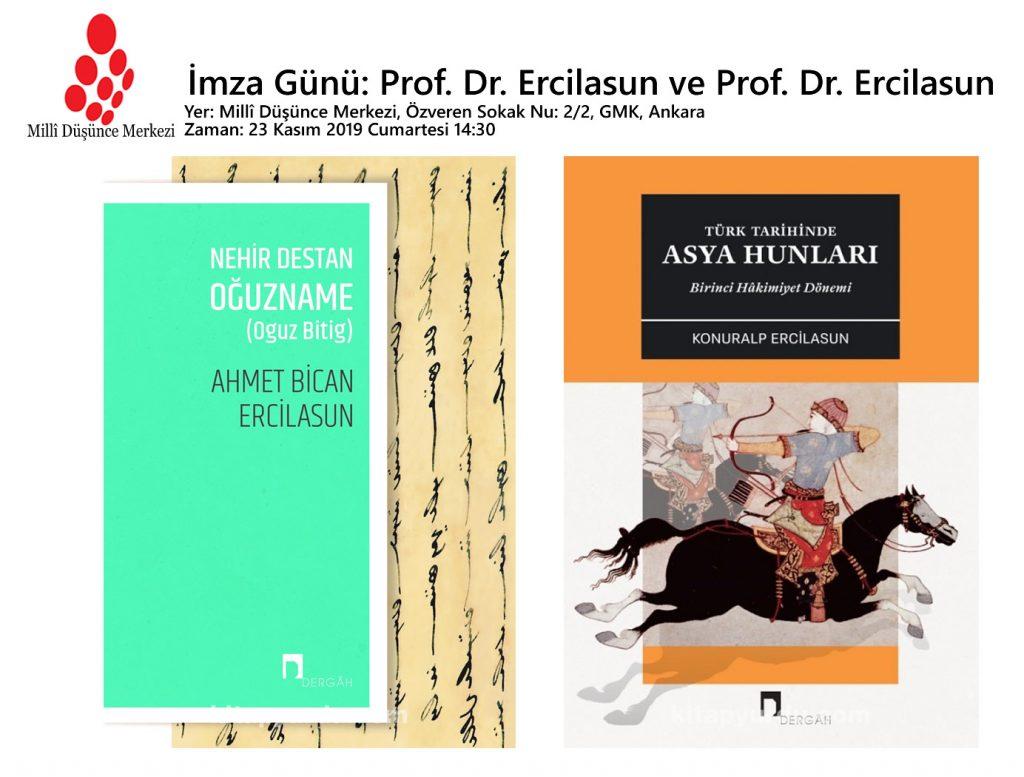 İmza Günü : Ahmet Bican Ercilasun ve Konuralp Ercilasun Yeni Kitaplarını İmzalayacak
