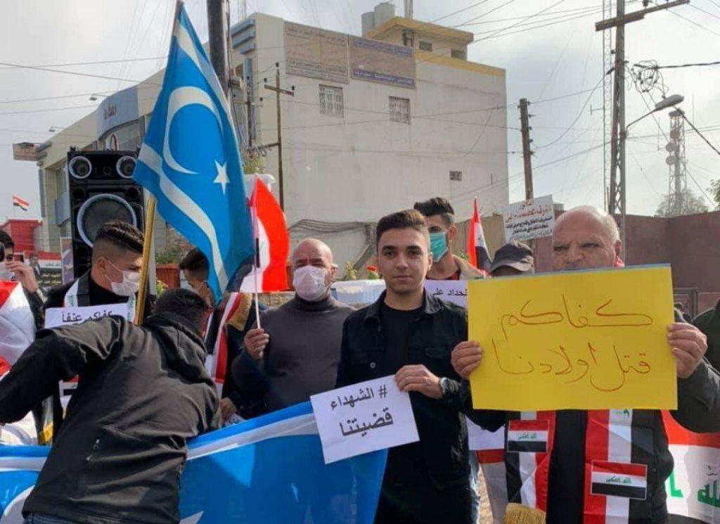 Türkmenlerden Protestoculara Destek