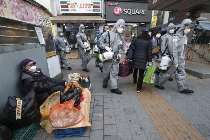Güney Kore'de koronavirüs salgını