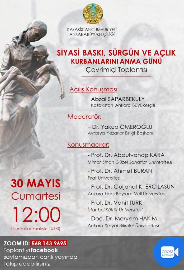 Siyasi Baskı, Sürgün ve Açlık Kurbanlarını Anma Gününe Davet
