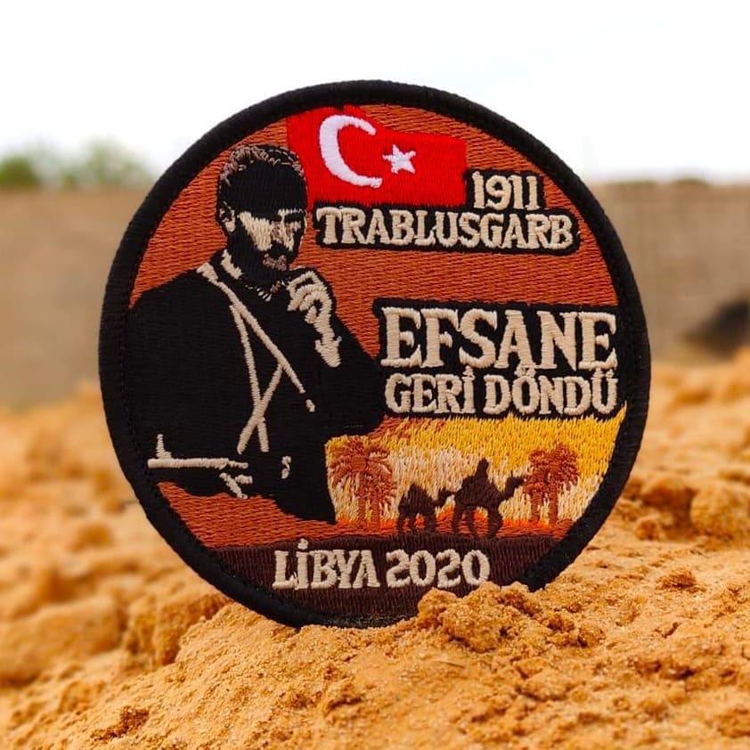 Libya'da görev yapan Türk askerinin omuz peçleri