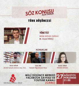 Açık Oturum: Söz Konusu-Türk Düşüncesi Üzerine