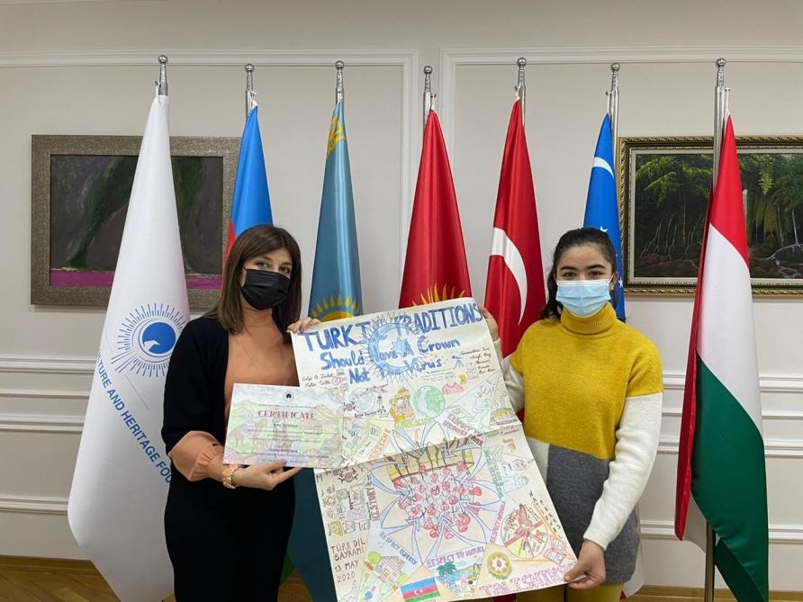 Uluslararası Türk Kültür ve Miras Vakfı, resim yarışmasında derece alan öğrencileri ödüllendirdi