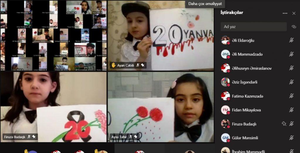 Bugün Azerbaycan'da okulların ilk dersi 20 Yanvar konusuna ayrıldı