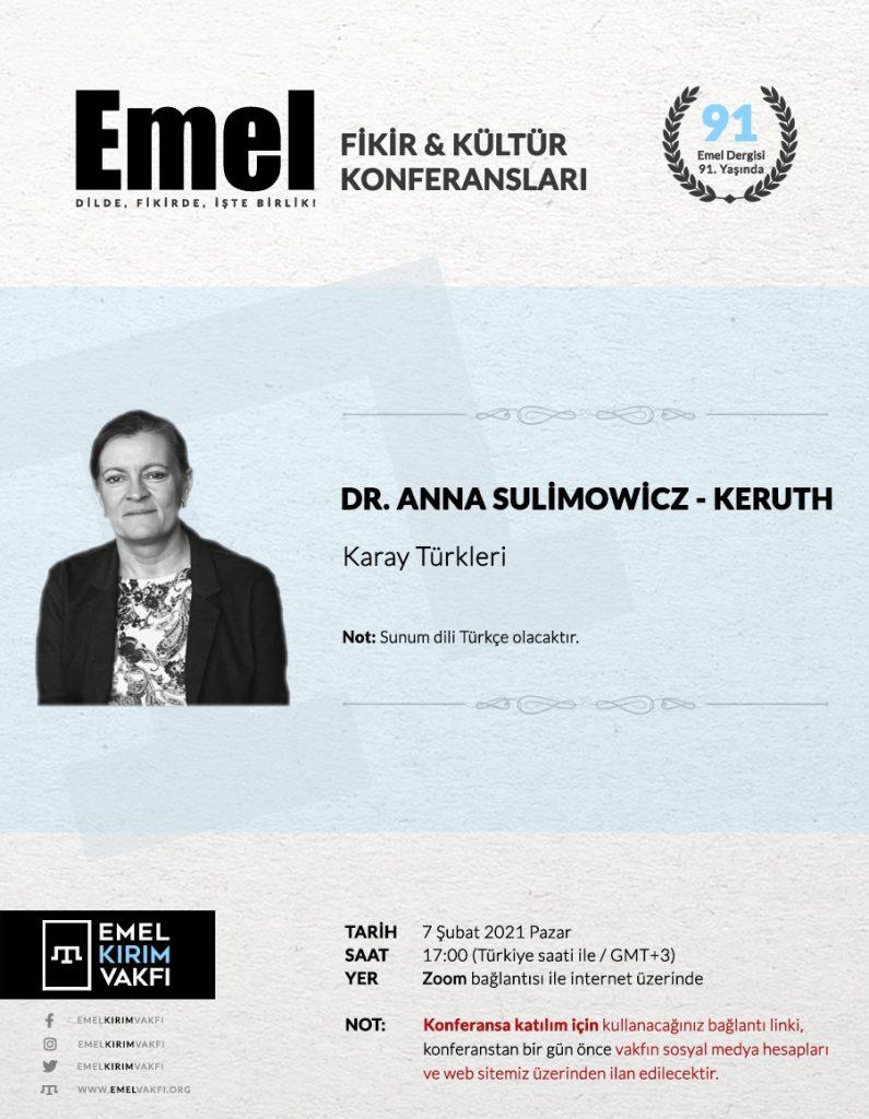 Emel Kırım Vakfı çevrim içi söyleşileri: Karay Türkleri