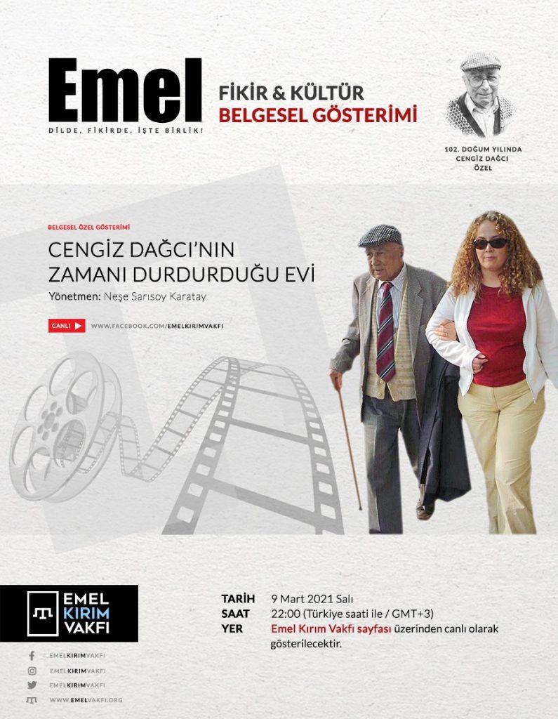 """Emel Fikir Kültür Konferansları """"Cengiz Dağcı Özel"""" programı"""