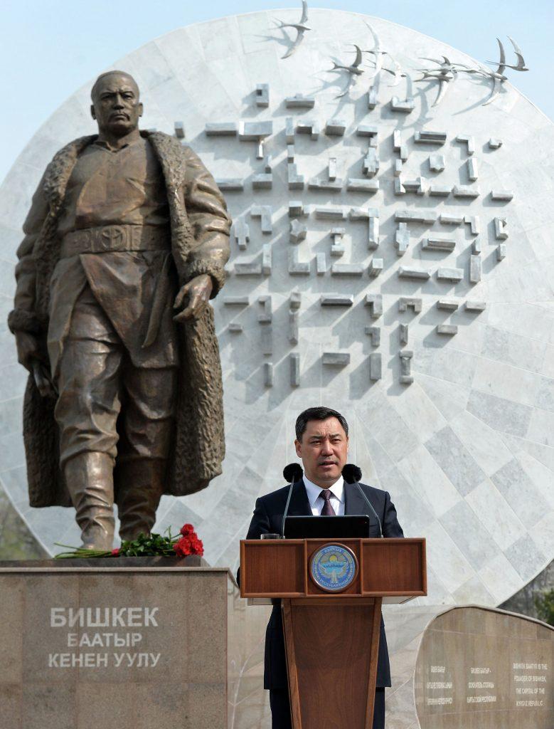 Kırgızistan'da Bişkek Baatır Anıtı açıldı