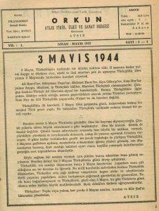 3 Mayıs Türkçülüğün tarihinde bir dönüm noktası oldu