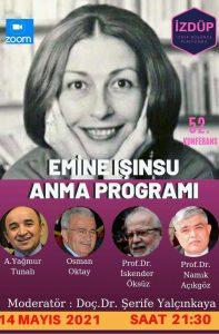 İzmir Düşünce Platformu 52. Konferans Emine Işınsu Anma Programı
