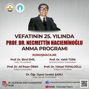 Prof. Dr. Necmettin Hacıeminoğlu Anma Programı