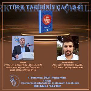 """""""Türk Tarihinin Çağları"""" söyleşisi"""