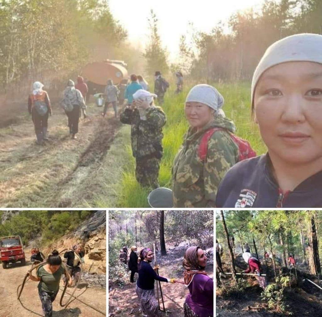Sibirya'dan Anadolu'ya Türk kadınları orman yangınlarıyla mücadele ediyor