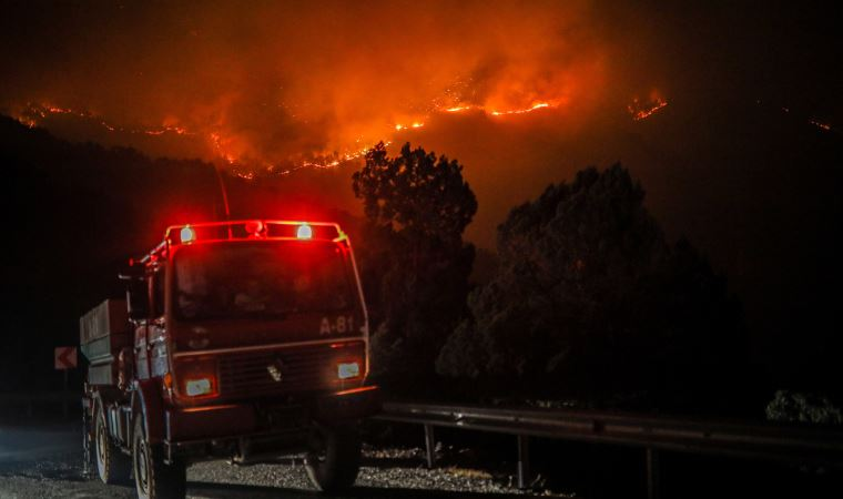 Orman yangınları sürerken