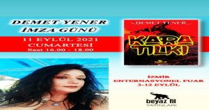 Yazarımız Demet Yener İzmir kitap fuarında